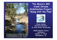 The Moore's Mill Creek Stream Stabilization Project - Alabama ...