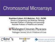Chromosomal Microarrays