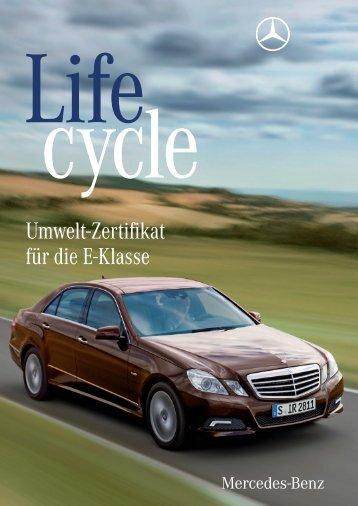 Umwelt-Zertifikat für die E-Klasse - Mercedes-Benz Deutschland