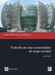 El desafío de crear universidades de rango mundial - World Bank ...