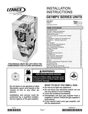 hs26 060 1p gcs16 090 350 2y lennox g61mpv gas furnace lennox