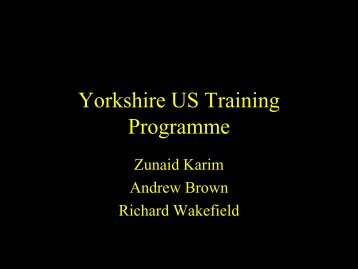 The Yorkshire training programme