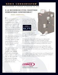 chaudières à vapeur alimentées au gaz GSB8-E/S - Lennox