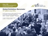 July 2013 Global Exhibition Barometer - UFI