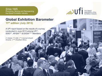 July 2013 Global Exhibition Barometer - UFI