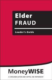 Elder Fraud - Leader's Guide - Consumer Action
