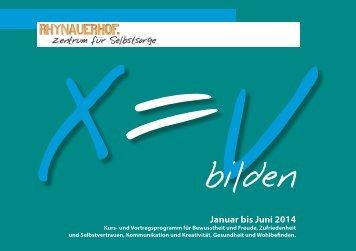Programm 2014/1 - Rhynauerhof