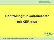 Controlling für Gartenbaucenter mit KER plus