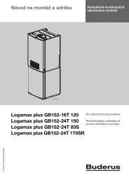 Návod na montáž a údržbu Logamax plus GB152-16T ... - Buderus