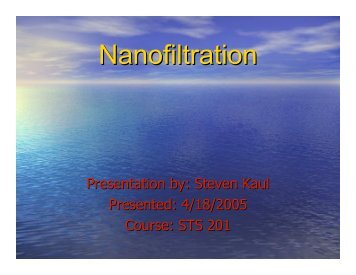 Nanofiltration - Tahan.com