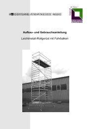 Rolllgerüst mit Fahrbalken - FERESTA GmbH
