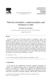 Network externalities, complementarities, and - NYU Stern School of ...