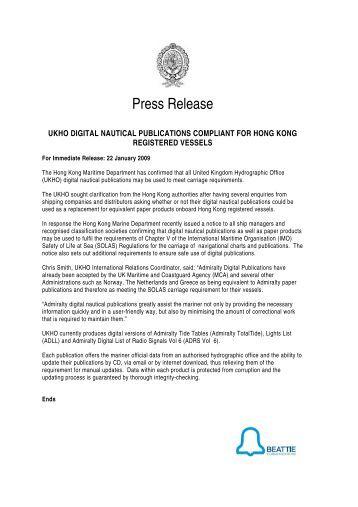 ukho digital nautical publications compliant for hong kong registered ...