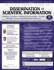 Dissemination of scientific information - CBI
