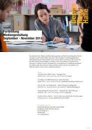 Broschüre Fortbildung Mediengestaltung - Burg Giebichenstein