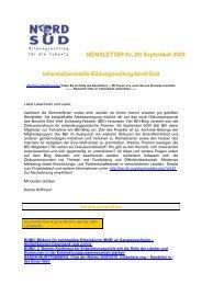 Newsletter Bildungsauftrag Nord-Süd Nr. 29 / September 2009 - WUS