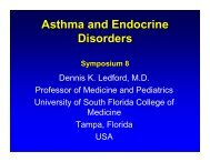 Asthma and Endocrine disorders-Ledford - World Allergy Organization