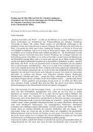 Predigt zum 28. Mai 2006 von Prof. Dr. Christof Landmesser