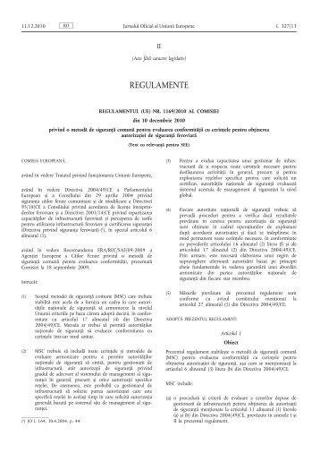 Regulamentul (UE) nr. 1169/2010 al Comisiei din 10 ... - EUR-Lex