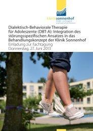 dbt-a fachtagung am 27. juni 2013 in der klinik ... - AWP Zürich