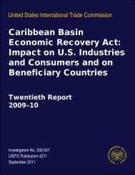 Caribbean Basin Economic Recovery Act: Impact on U.S. ... - USITC