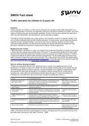 Factsheet Traffic education of children 4-12 years old - SWOV