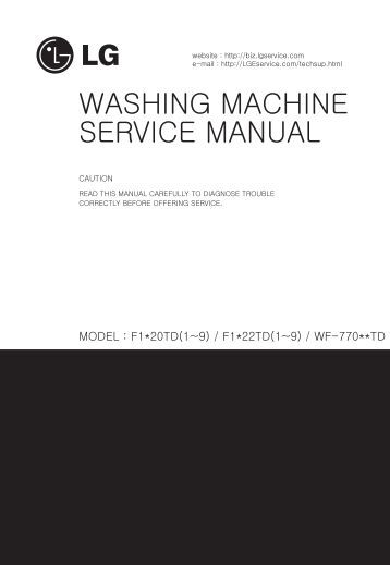 WASHING MACHINE SERVICE MANUAL - Jordans Manuals