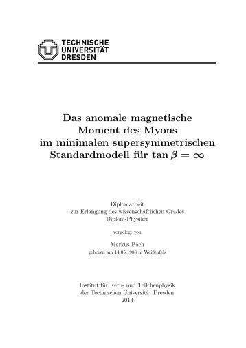 Das anomale magnetische Moment des Myons im minimalen ...