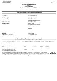 Material Safety Data Sheet 1. Identification de la ... - Pinmar