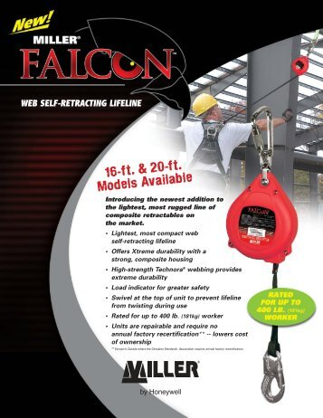 Falcon Web Self-Retracting Lifeline - Miller Fall Protection