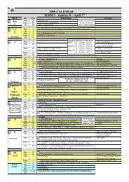 2009 CALENDAR TERM 1 January 8 – April 3