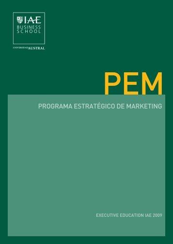 PROGRAMA ESTRATÉGICO DE MARKETING - IAE Business School