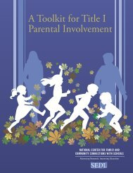 A Toolkit for Title I Parental Involvement - SEDL