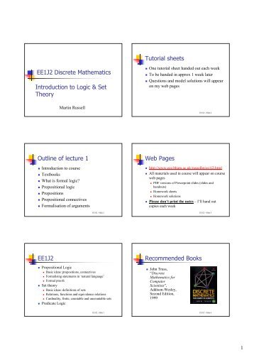 math worksheet : wuct121 discrete mathematics logic tutorial exercises : Discrete Math Worksheets