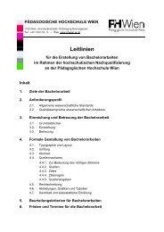 Leitlinien für die Erstellung von Bachelorarbeiten - Pädagogische ...