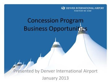 Concession Program Business Opportunities - DIA Business Center ...