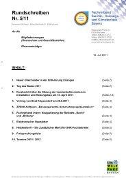Rundschreiben - Fachverband Sanitär-, Heizungs-, Klimatechnik ...