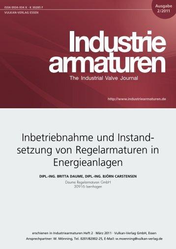 Inbetriebnahme und Instandsetzung von Regelarmaturen in ...