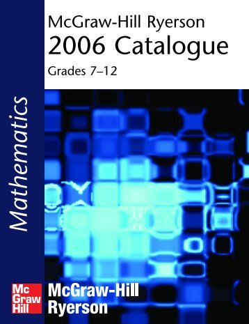 2006 Catalogue - McGraw-Hill Ryerson