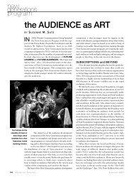 the AUDIENCE as ART - Doris Duke Charitable Foundation