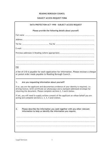 Postal Order Form | Postal Vote Application Form Reading Borough Council