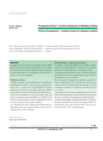 Inhaled insulin for diabetes mellitus - ResearchGate