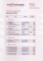 Lagerware-Preisliste.pdf herunterladen - Felix Schneider