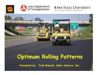 Optimum Rolling Patterns - Conference Planning and Management