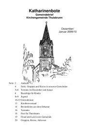 Katharinenbote Dez-Jan 2009-10 - Dekanat Gräfenberg