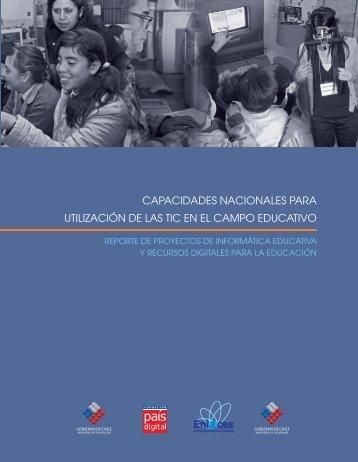 Capacidades Nacionales para Utilización de las TIC en el Campo ...