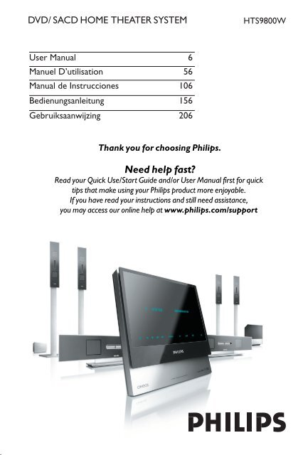 Philips HTS9800W/55 Home Theater Update