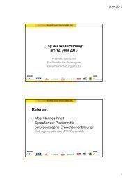 Präsentation Mag. Hannes Knett - Wifi