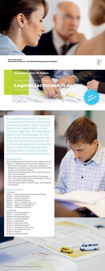 Logistikfachmann/frau - und Weiterbildungszentrum St. Gallen