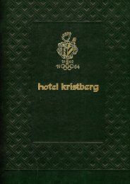 à la carte Menü PDF - Hotel Kristberg